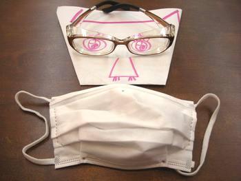花粉メガネとマスク
