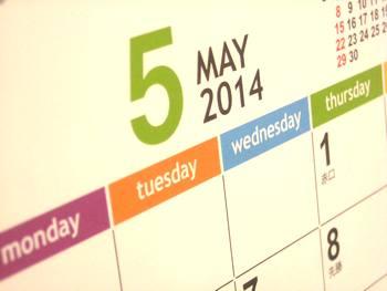カレンダー2014‐5月