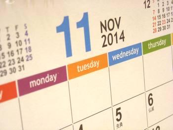 カレンダー2014-11月
