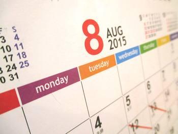 カレンダー2015年-8月