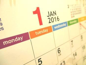 カレンダー2016-1月