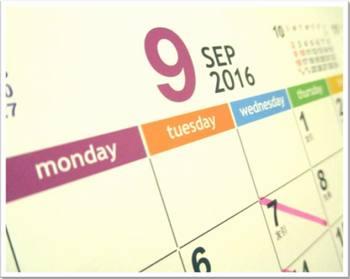 カレンダー2016-9月