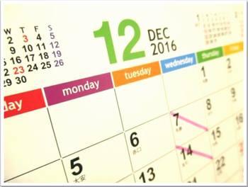 カレンダー2016-12月
