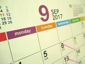 カレンダー2017-9月