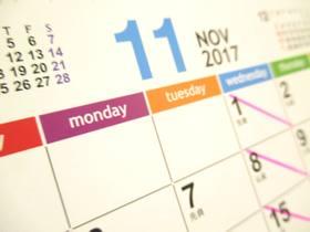 カレンダー2017-11月