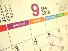 カレンダー2018-9月