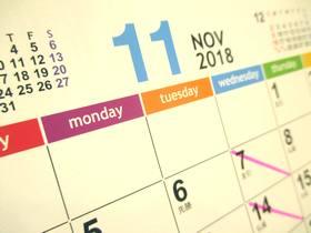 カレンダー2018-11月