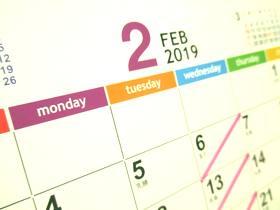 カレンダー2019-2月
