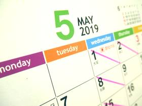 カレンダー2019-5月