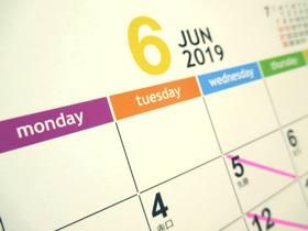 カレンダー2019-6月
