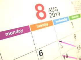 カレンダー2019-8月