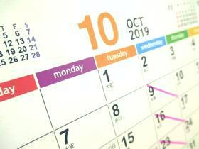 カレンダー2019-10月
