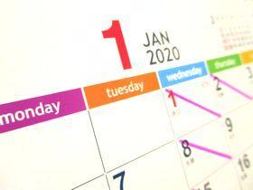 カレンダー2020年-1月