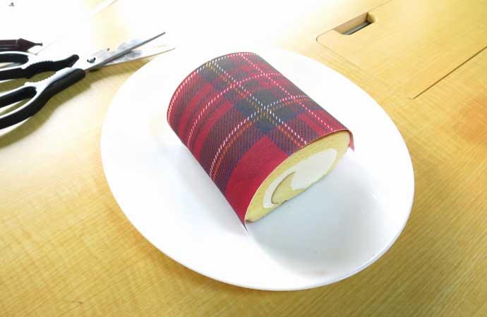 食べられる 可食シート ロールケーキ