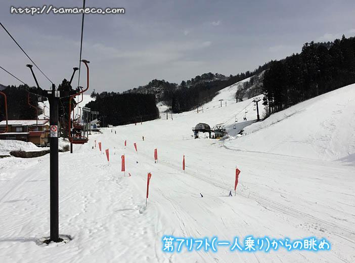 湯沢パーク第7リフトからの眺め(第7初心者コース)