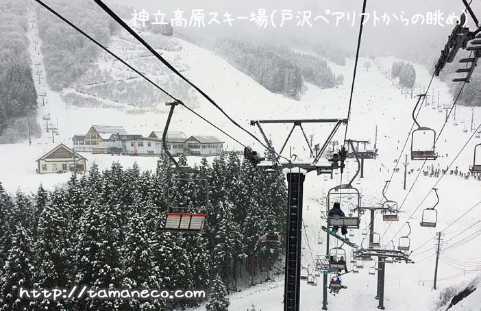 神立高原スキー場(戸沢ペアリフトからの眺め)