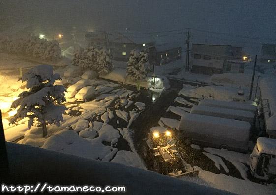 湯沢パーク駐車場(雪)