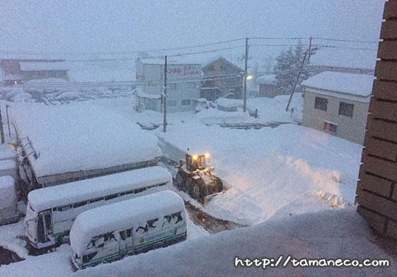 湯沢パークホテルからの眺め(雪)