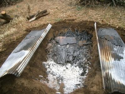 焚口側は燃えすぎた