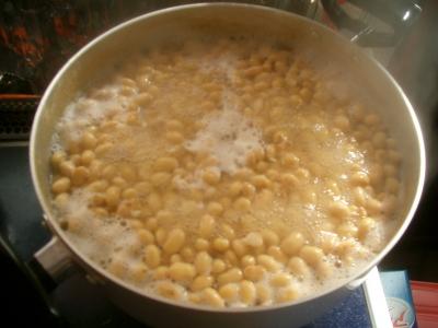 2kgの大豆を3時間