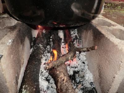 薪の火は暖かい