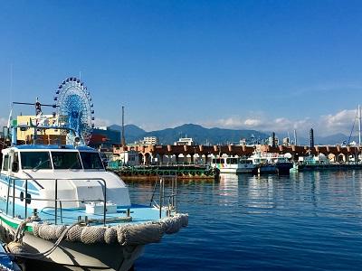 マグロ漁船 清水風景
