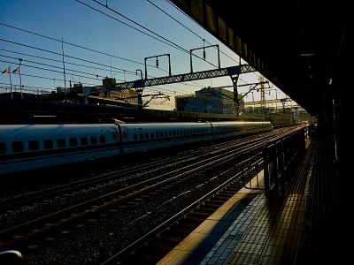 夕方の静岡駅