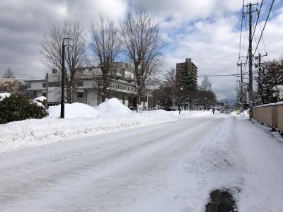 当館前の道路
