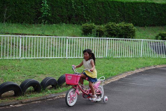 補助輪付幼児自転車だけ無料で乗れます。一応コースも。