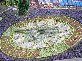 記念の花時計