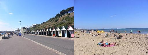 ボーンマスのビーチ