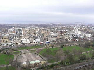エジンバラ城からの眺め
