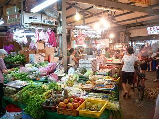 台北のマーケットの様子。