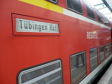 シュトットガルトへは列車で。