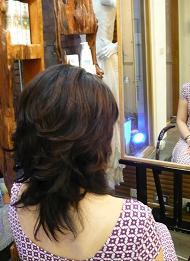台北の美容院でカットしてもらった髪型です