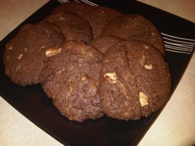 チョコくるみクッキーを焼いてみました