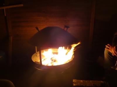 年越しの焚き火