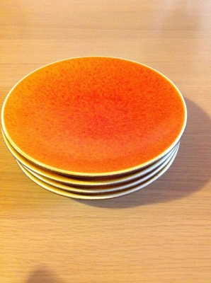 オレンジのお皿