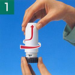 【気管支喘息治療薬】パルミコート タービュへイラーの吸入方法
