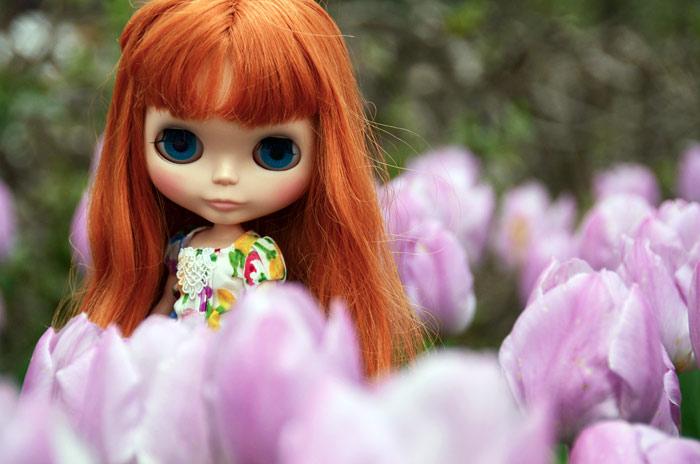 チューリップは咲き乱れ