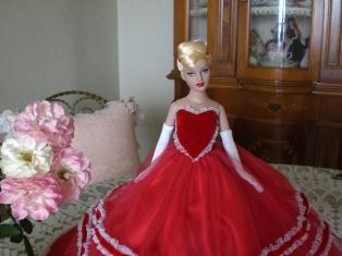 チュールを重ねたドレスが素敵でしょう