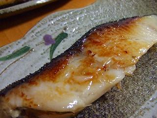 20060612夕食 ギンダラの粕漬け