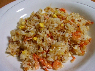 20070313夕食 桜海老のチャーハン