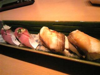 20080731夕食 アナゴとサバの握り