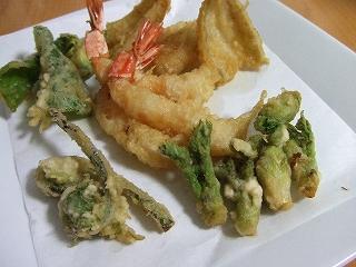 20090513夕食 山菜天ぷら
