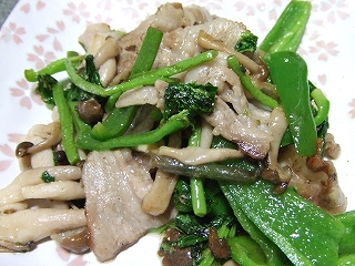 20090520夕食 野菜炒め