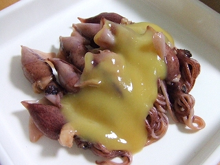 20090524夕食 蛍烏賊の酢味噌和え