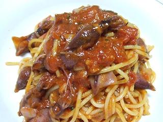 20090525夕食 蛍烏賊のトマトソースパスタ