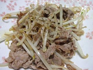 20090525夕食 モヤシ炒め