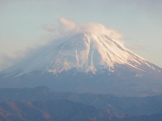 富士夕景アップ